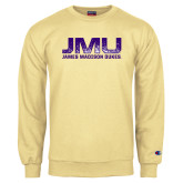 Champion Vegas Gold Fleece Crew-JMU James Madison Dukes Textured