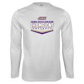 Performance White Longsleeve Shirt-CAA 2017 Softball Champions