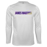 Performance White Longsleeve Shirt-James Madison Two Tone