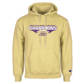 Champion Vegas Gold Fleece Hoodie-NCAA Division I Football Champions 2016