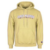 Champion Vegas Gold Fleece Hoodie-James Madison University Arched