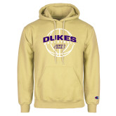 Champion Vegas Gold Fleece Hoodie-Dukes Basketball Arched w/ Ball