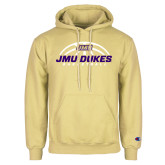 Champion Vegas Gold Fleece Hoodie-JMU Dukes Basketball Half Ball