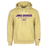 Champion Vegas Gold Fleece Hoodie-JMU Dukes Baseball Stacked