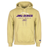 Champion Vegas Gold Fleece Hoodie-JMU Dukes Softball Stacked
