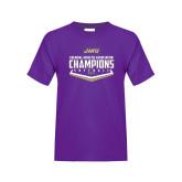 Youth Purple T Shirt-CAA 2017 Softball Champions