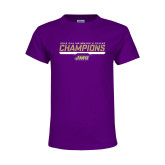 Youth Purple T Shirt-Swimming and Diving Champions