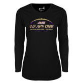 Ladies Syntrel Performance Black Longsleeve Shirt-We Are One - Kickoff 2017