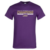 Purple T Shirt-Swimming and Diving Champions