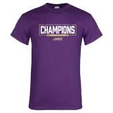 Purple T Shirt-2018 Womens Lacrosse National Championship #2