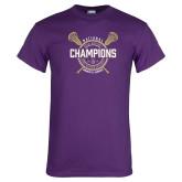 Purple T Shirt-2018 Womens Lacrosse National Championship #1