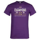 Purple T Shirt-2018 CAA Mens Soccer Champions