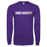 Purple Long Sleeve T Shirt-James Madison Two Tone