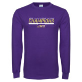Purple Long Sleeve T Shirt-Swimming and Diving Champions