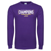 Purple Long Sleeve T Shirt-2018 Womens Lacrosse National Championship #2