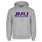 Grey Fleece Hoodie-JMU James Madison Dukes Textured