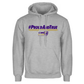 Grey Fleece Hoodie-Duke Club #ProudAndTrue