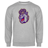 Grey Fleece Crew-Duke Dog Head