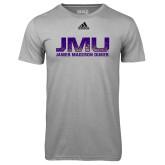 Adidas Climalite Sport Grey Ultimate Performance Tee-JMU James Madison Dukes Textured