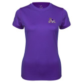 Ladies Syntrel Performance Purple Tee-Duke Dog