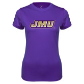 Ladies Syntrel Performance Purple Tee-Primary Logo