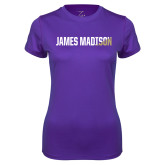 Ladies Syntrel Performance Purple Tee-James Madison Two Tone