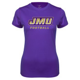 Ladies Syntrel Performance Purple Tee-Football