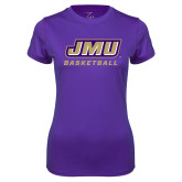Ladies Syntrel Performance Purple Tee-Basketball