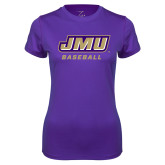 Ladies Syntrel Performance Purple Tee-Baseball