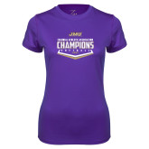 Ladies Syntrel Performance Purple Tee-CAA 2017 Softball Champions