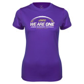 Ladies Syntrel Performance Purple Tee-We Are One - Kickoff 2017