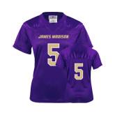 Ladies Purple Replica Football Jersey-#5