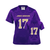 Ladies Purple Replica Football Jersey-#17