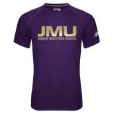 Adidas Climalite Purple Ultimate Performance Tee-JMU James Madison Dukes Textured