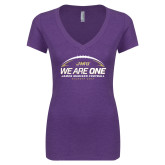 Next Level Ladies Vintage Purple Tri Blend V Neck Tee-We Are One - Kickoff 2017