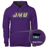 Contemporary Sofspun Purple Hoodie-Primary Logo