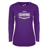 Ladies Syntrel Performance Purple Longsleeve Shirt-CAA 2017 Softball Champions