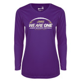 Ladies Syntrel Performance Purple Longsleeve Shirt-We Are One - Kickoff 2017