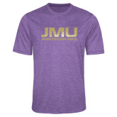 Performance Purple Heather Contender Tee-JMU James Madison Dukes Textured