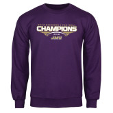 Purple Fleece Crew-NCAA Division I Football Champions 2016