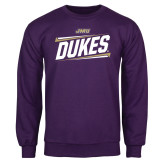 Purple Fleece Crew-Dukes Slanted