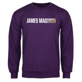 Purple Fleece Crew-James Madison Two Tone