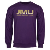 Purple Fleece Crew-JMU James Madison Dukes Textured