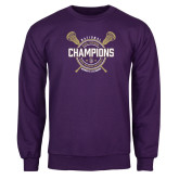 Purple Fleece Crew-2018 Womens Lacrosse National Championship #1
