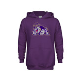 Youth Purple Fleece Hoodie-Duke Dog