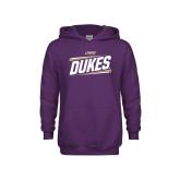 Youth Purple Fleece Hoodie-Dukes Slanted