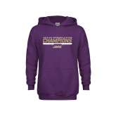Youth Purple Fleece Hoodie-Swimming and Diving Champions