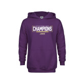 Youth Purple Fleece Hoodie-2018 Womens Lacrosse National Championship #2