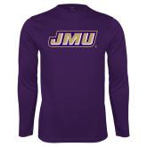 Performance Purple Longsleeve Shirt-Primary Logo