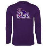 Performance Purple Longsleeve Shirt-Duke Dog